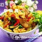 腊肉炒豆丝(湖北地方特色主食)