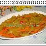 豆瓣酱炒莴笋丝(素菜)