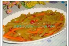 豆瓣酱炒莴笋丝