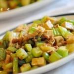 芹菜豆腐丁(下饭素菜)