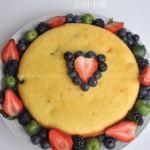 蓝莓玉米面蛋糕(早餐食谱)