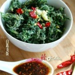 白蒿蒸麦饭(清蒸菜-陕西小吃)