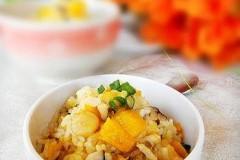 干贝南瓜焖饭