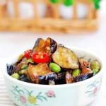 毛豆烧茄子(素菜)