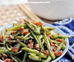 腊肠丁炒四季豆