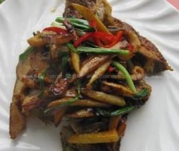 姜葱煎焗桂鱼块