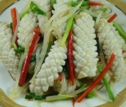 韭菜炒鲜鱿鱼