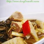 酸菜春笋卷百叶(素菜)