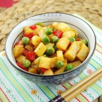 小炒马蹄竹笋蔬菜丁