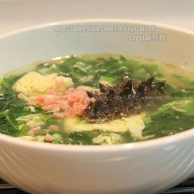 家常蔬菜海参汤