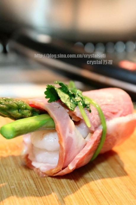 培根芦笋鲜虾卷
