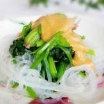 芝麻花生酱粉丝拌菠菜(凉菜)