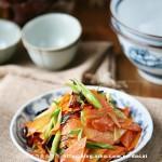 炝炒胡萝卜片(素菜)