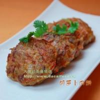 生煎胡萝卜肉饼