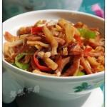 白萝卜干红肠小炒(荤素搭配)