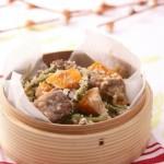 米粉蒸杂蔬排骨(清蒸菜-粉蒸肉米粉做法)