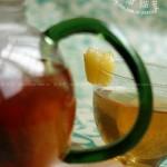 菠萝草莓水果茶(自制饮料)