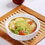 鲜蚕豆西葫芦鸡蛋汤(素菜)