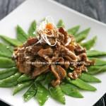 酱汁牛柳荷兰豆(适合带饭的便当菜)