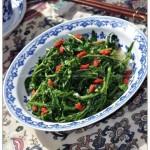 油盐炒枸杞芽儿(素菜)
