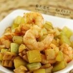 双笋虾仁(减肥食谱)