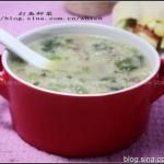 补血明肝猪肝菠菜粥(早餐食谱)