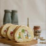 水果蛋糕卷(早餐食谱)