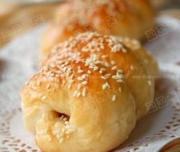 火腿肠面包卷