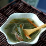火腿莼菜汤的做法