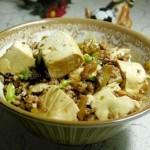 豆腐蒸肉末(清蒸菜)