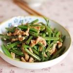 腐乳肉丝炒空心菜梗(荤素搭配)