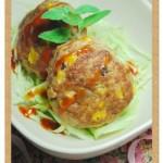 玉米汉堡排(荤菜)