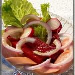 香肠杂菜沙拉(法式沙拉汁)