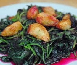 蒜头红苋菜