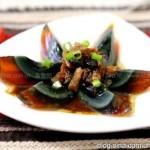 豆豉鲮鱼拌皮蛋(凉拌菜)