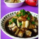 双味茄丁(咸鲜蚝油茄子、香蒜酸甜味茄子)