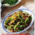 青椒肉丝(荤菜)