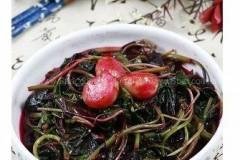 蒜头炒红苋菜