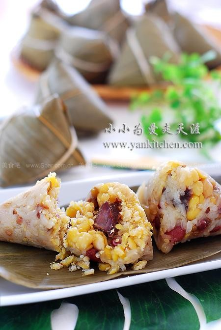 包粽子的方法和步骤(牛肉杂豆粽子)的做法步骤