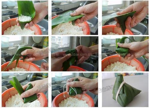 如何包粽子图解