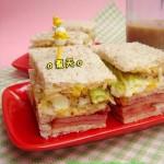 芥末籽蛋碎火腿三文治(早餐食谱)