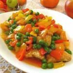 酸甜汁鱼块(荤菜)