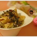 鸡汁雪菜百叶卷(素菜)