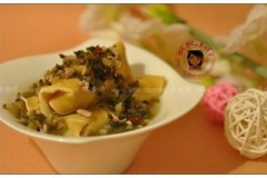 鸡汁雪菜百叶卷