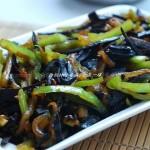 青椒炒西瓜皮(素菜)