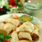 清凉白切鸡和薄荷鸡粥(荤菜)