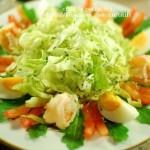 生菜虾沙拉佐吞拿鱼酱(减肥食谱)