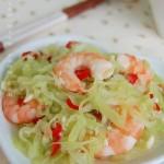 酸辣莴笋虾(减肥食谱)