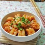 韩味泡菜炒虾仁(海鲜家常菜)