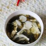 紫菜鲜菇蛋花汤(素菜--如何识别好紫菜)